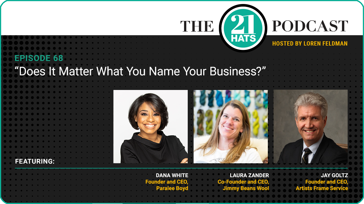 """Episode 68: """"Does It Matter What You Name Your Business?"""""""